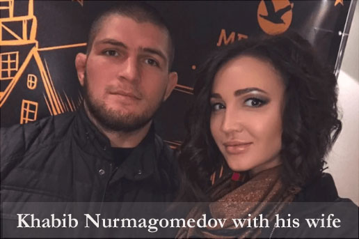 Nurmagomedov with his wife