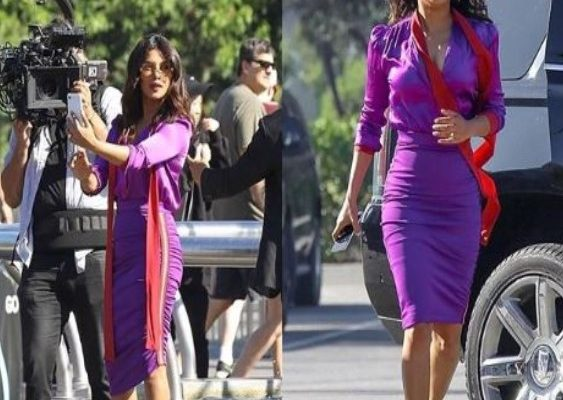Priyanka Chopra shooting