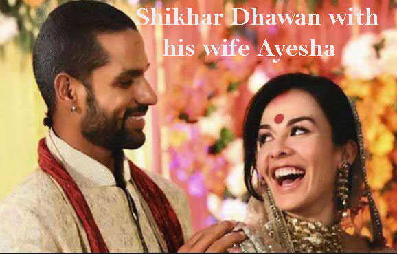 Shikhar Dhawan and his wife