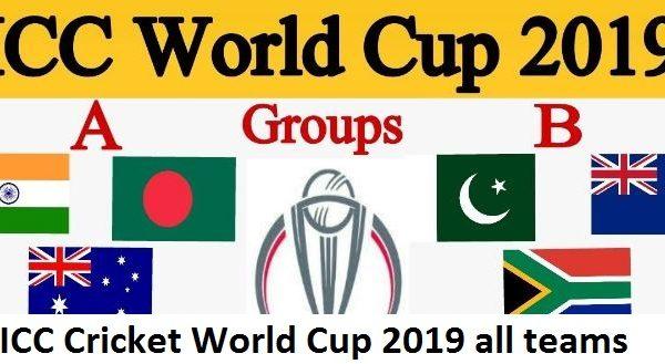 ICC Cricket World 2019 teams