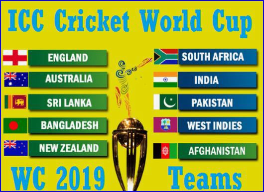 icc cricket world cup 2019 will take part 10 teams and it will play in england in the past icc world cup 2015 was champion australia cricket team when