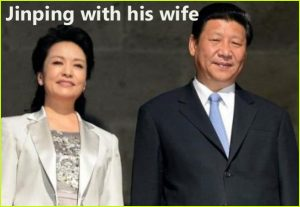 Xi Jinping with his wife