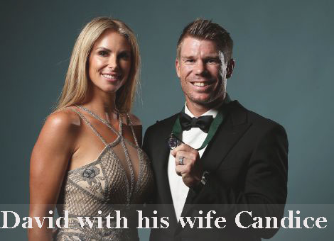 David Warner with his wife