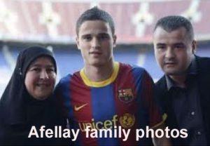 Ibrahim Afellay family