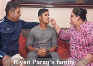 Riyan Parag's family
