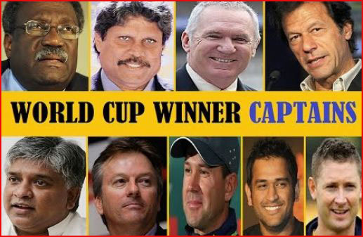 Cricket World Cup winners captains list