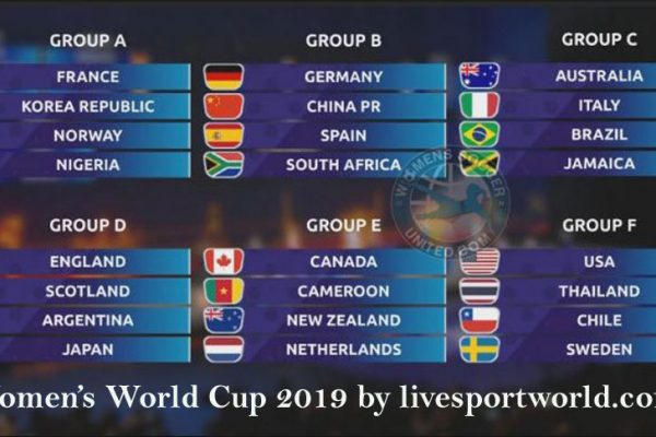Fifa Women's world Cup 2019 schedule