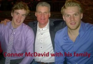 McDavid with his family
