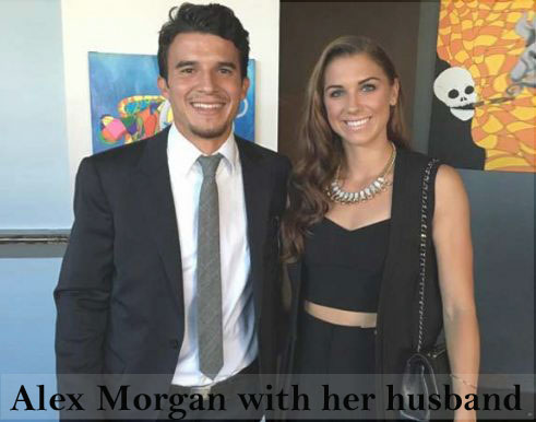 Morgan with her husband
