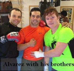 Alvarez with his brothers