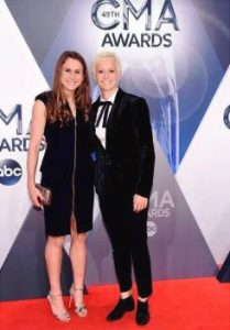 Megan Rapinoe with her girlfriend Sera Cahoone