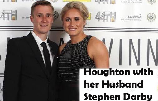 Steph Houghton with her husband