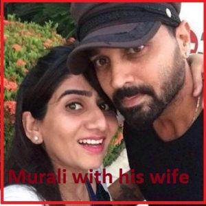 Murali Vijay wife Nikita
