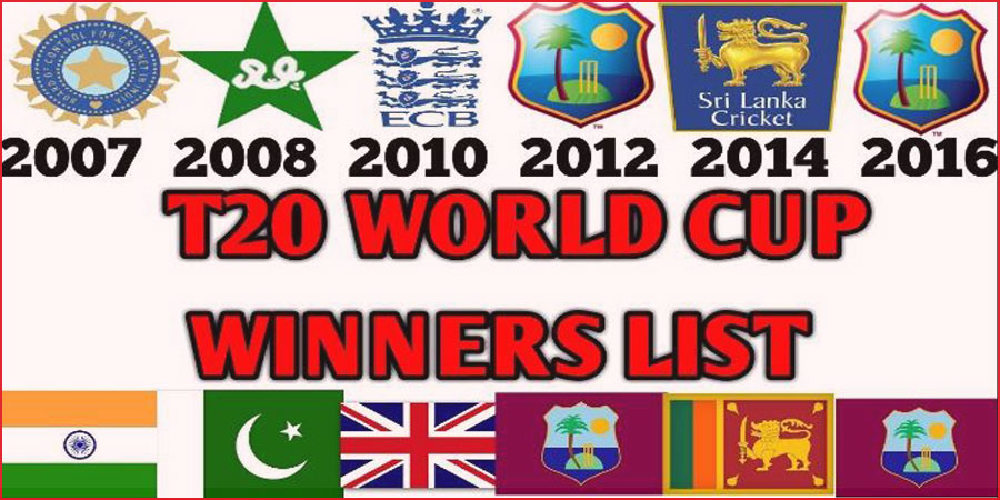 T20 world cup winners list from 2007 to present