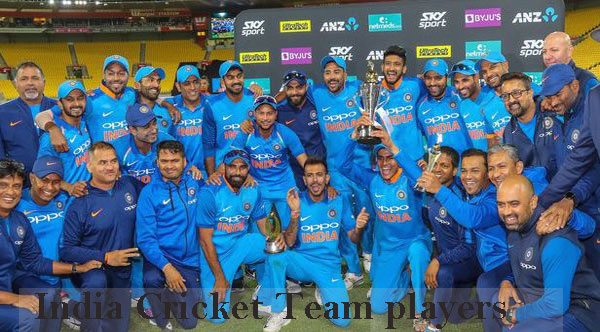 India Cricket team players
