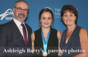Ashleigh Barty's parents