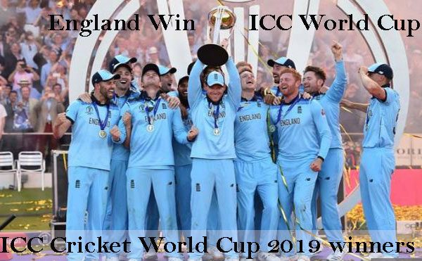 ICC WORLD CUP winners 2019 NEW ZEALAND VS ENGLAND WIN