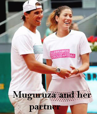 Muguruza with her partner