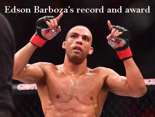 Edson Barboza's record