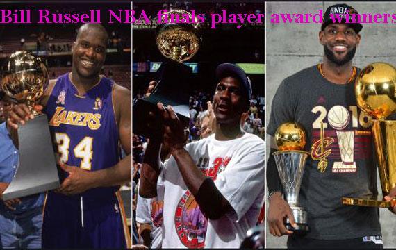 Bill Russell NBA finals most valuable player award winners