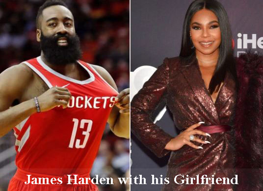 James Harden with his girlfriend