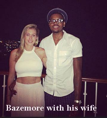 Kent Bazemore with his wife