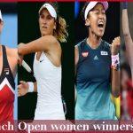 French open women winners