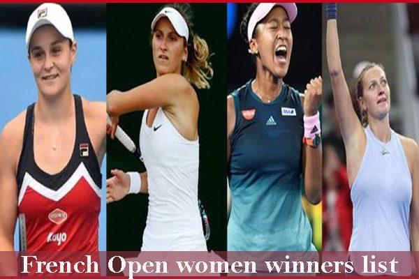 French Open Women Winners List Tennis Champions singles