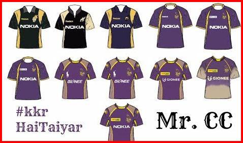 Kolkata Knight Riders jersey