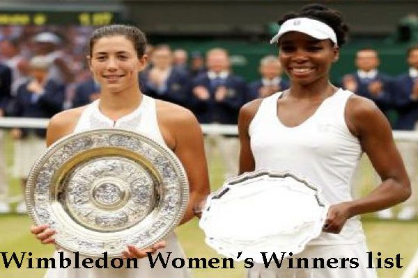 Wimbledon Women's Winners singles since 1884 to present