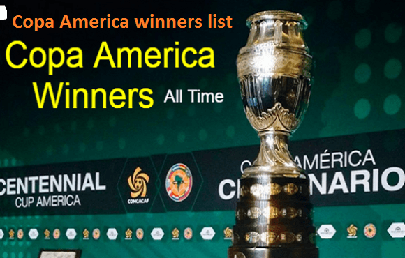 Copa America Winners List by Team and Copa America history