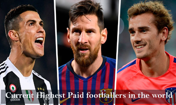Top 10 current highest paid footballers in the world