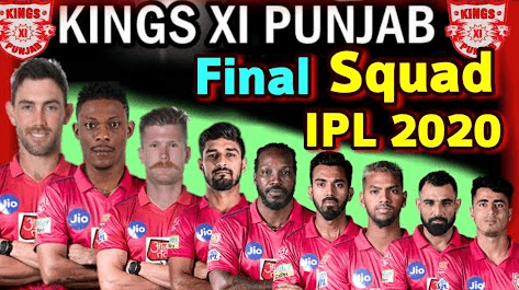 Kings XI Punjab 2020 players