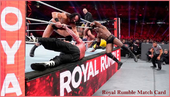 Royal Rumble 2020 match card