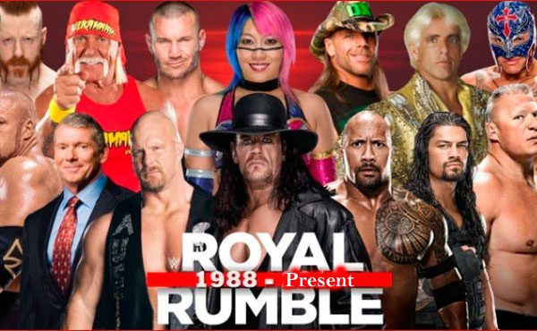 WWE Royal rumble winners list 1988 to present