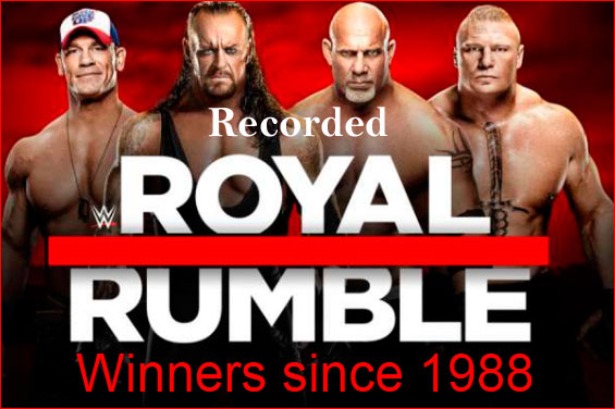WWE Royal Rumble winners list