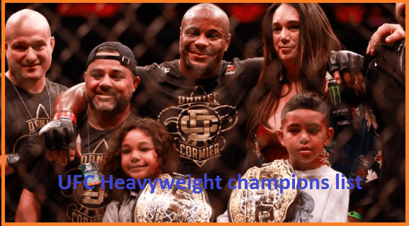 ufc heavyweight champions list
