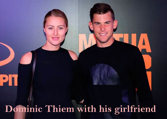 Dominic thiem with his girlfriend