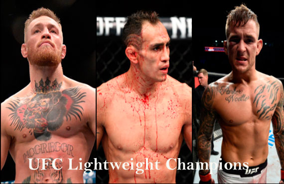 UFC lightweight rankings, champion and weight division