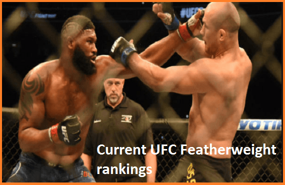 UFC featherweight rankings, champion and weight division