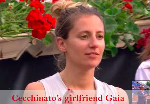 Cecchinato's girlfriend Gaia Marco