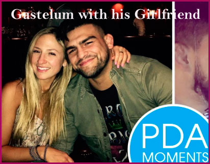 Kelvin Gastelum with his girlfriend