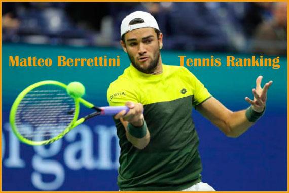 Matteo berrettini tennis ranking, wife, net worth, height, and family