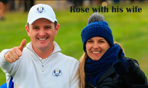 Justin Rose with his wife