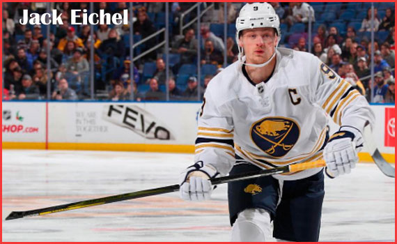 Jack Eichel Hockey player, wife, contract, salary,jersey, height, family and more