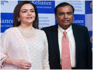 Mukesh Ambani with his wife Nita