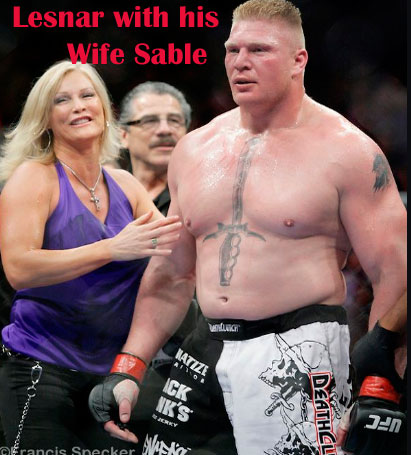 Brock Lesnar with his wife
