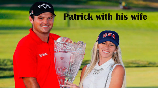 Patrick Reed with his wife