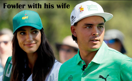 Rickie Fowler with his wife