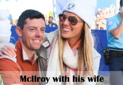 Rory McIlroy with his wife